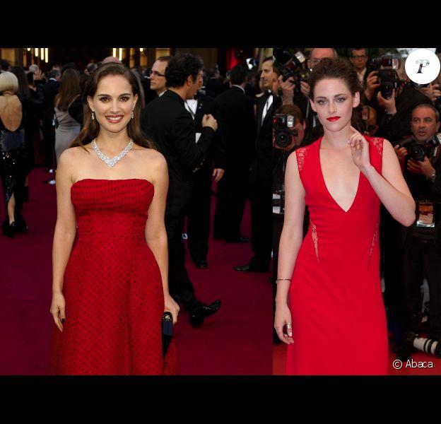 Natalie Portman et Kristen Stewart (photomontage)