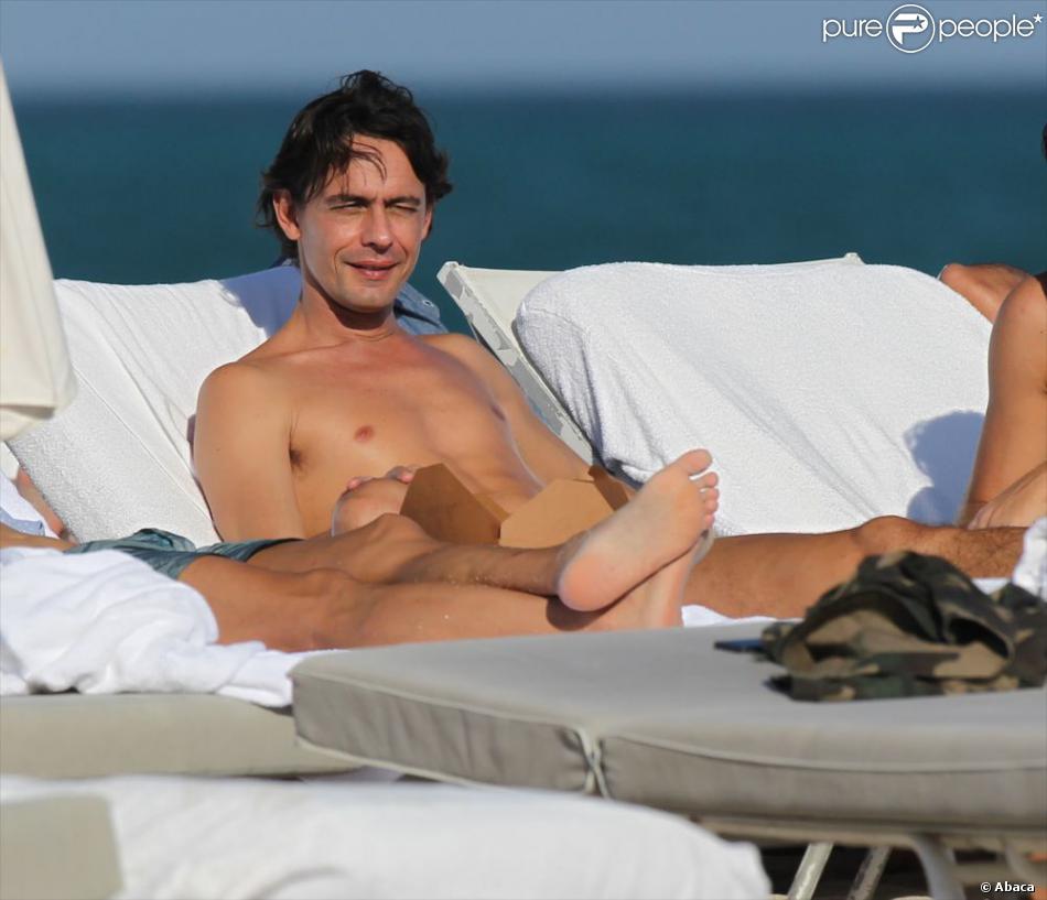 L'ex-footballeur italien Filippo Inzaghi à Miami. Le 26 décembre 2012.