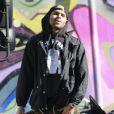 Rihanna et Chris Brown se promènent à Los Angeles, le 2 janvier 2013. Le chanteur de R'n'B portait des vêtements Black Pyramid, sa ligne de vêtements.