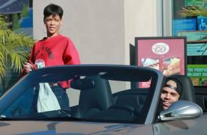 Rihanna et Chris Brown : Virée en amoureux et en Porsche à Los Angeles
