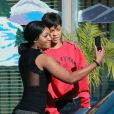 Rihanna et Chris Brown se promènent à Los Angeles, le 2 janvier 2013.