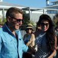 Lapo Elkann et sa nouvelle compagne Goga Ashkenazi à Punta del Este, le 3 janvier 2013.