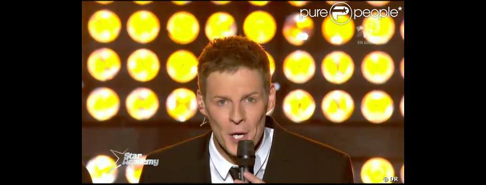 Matthieu Delormeau dans Star Academy 9, jeudi 6 décembre 2012 sur NRJ12