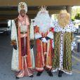 Le Néerlandais Ruud van Nistelrooy déguisé en Balthazar lors de la Cabalgata de los tres reyes, la traditionnelle parade des rois mages en Espagne, le 5 janvier 2013 à Marbella.