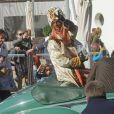 Ruud van Nistelrooy déguisé en Balthazar lors de la Cabalgata de los tres reyes, la traditionnelle parade des rois mages en Espagne, le 5 janvier 2013 à Marbella.