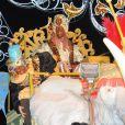 Le buteur de légende Ruud van Nistelrooy déguisé en Balthazar lors de la Cabalgata de los tres reyes, la traditionnelle parade des rois mages en Espagne, le 5 janvier 2013 à Marbella.