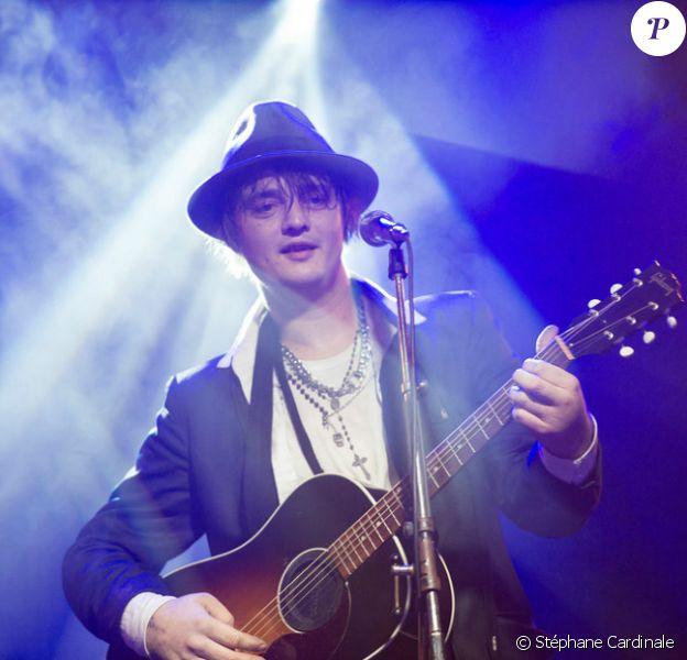 Concert de Peter Doherty au Bus Palladium, un établissement du Moma Group. Photo prise le 8 janvier 2013 à Paris.