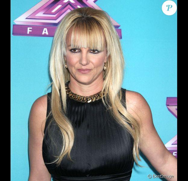 Britney Spears à la conférence de presse pour la dernière saison de l'émission X Factor à Los Angeles, le 17 décembre 2012.