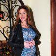 La belle Poppy Montgomery enceinte de son deuxième enfant, à Los Angeles, le 10 janvier 2013
