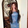 Poppy Montgomery enceinte de son deuxième enfant, à Los Angeles, le 10 janvier 2013