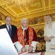 Le prince Albert II et la princesse Charlene de Monaco en visite au Vatican, le samedi 12 janvier 2013.