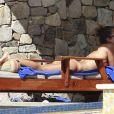 Jessica Alba passe le début de l'année 2013 avec son mari et ses filles à Cabo San Lucas au Mexique. Photo prise le 2 janvier 2013.