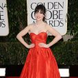 Zooey Deschanel aux 70e Golden Globe Awards au Beverly Hilton Hôtel à Los Angeles, le 13 janvier 2013