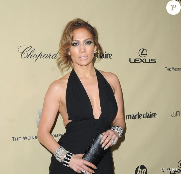 Jennifer Lopez lors de l'after-party de la société Weinstein des Golden Globes 2013, au Beverly Hilton Hôtel de Beverly Hills, à Los Angeles, le 13 janvier 2013