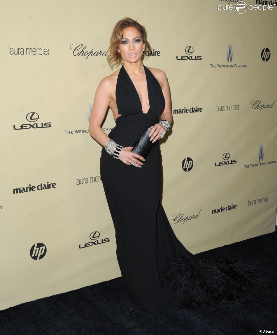 Jennifer Lopez lors de l'after-party de la société Weinstein des Golden Globes 2013, au Beverly Hilton Hôtel de Beverly Hills, à Los Angeles, le 13 janvier 2013