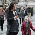 L'actrice Jennifer Connelly sur le tournage du film  Winter's Tale  à New York, le 14 janvier 2013.