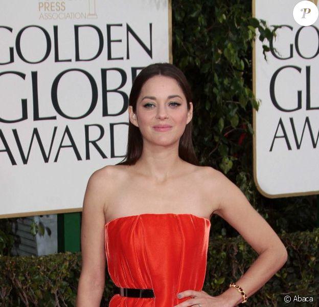 Marion Cotillard lors des Golden Globes 2013
