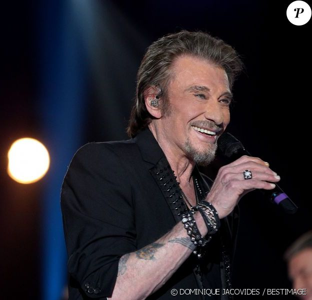 Johnny Hallyday à Paris le 11 janvier 2013 pour la Fête de la Chanson Francaise