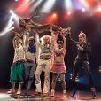 Gunther Love, leader des Airnadette, en plein show à l'Olympia, le 19 janvier 2013.