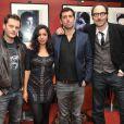Nicolas Duvauchelle, Paloma Contreras, Edouard Deluc et Philippe Rebbot lors de l'avant-première du film Mariage à Mendoza le 22 janvier 2013