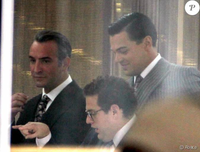 Leonardo dicaprio et jean dujardin sur le tournage du film for Dujardin dicaprio