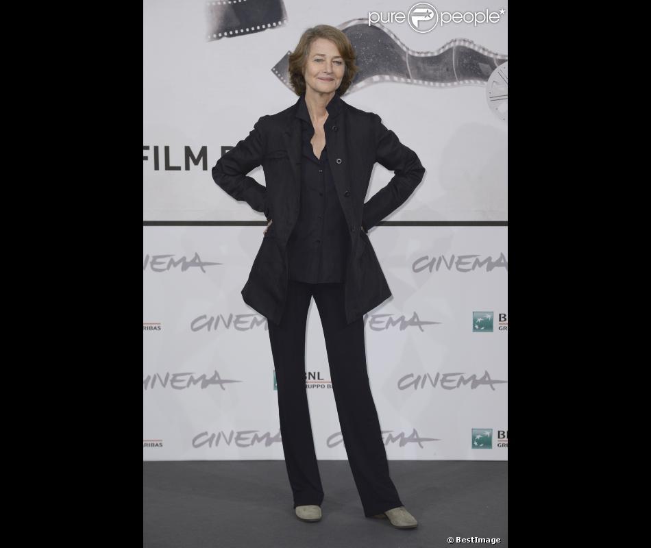 Charlotte Rampling lors du photocall du film Tutto Parla di Te lors du 7e festival international du film de Rome. Le 15 novembre 2012.