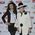 Auline Grac et Geneviève de Fontenay lors du 92e Grand Prix d'Amérique à l'hippodrome de Vincennes à Paris le 27 Janvier 2013.