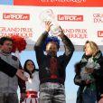 Le grand gagnant Jean-Philippe Dubois lors du 92e Grand Prix d'Amérique à l'hippodrome de Vincennes à Paris le 27 Janvier 2013.
