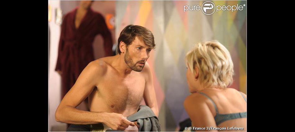 Laurent Kerusore et Rebecca Hampton dans Plus Belle La vie sur France 3