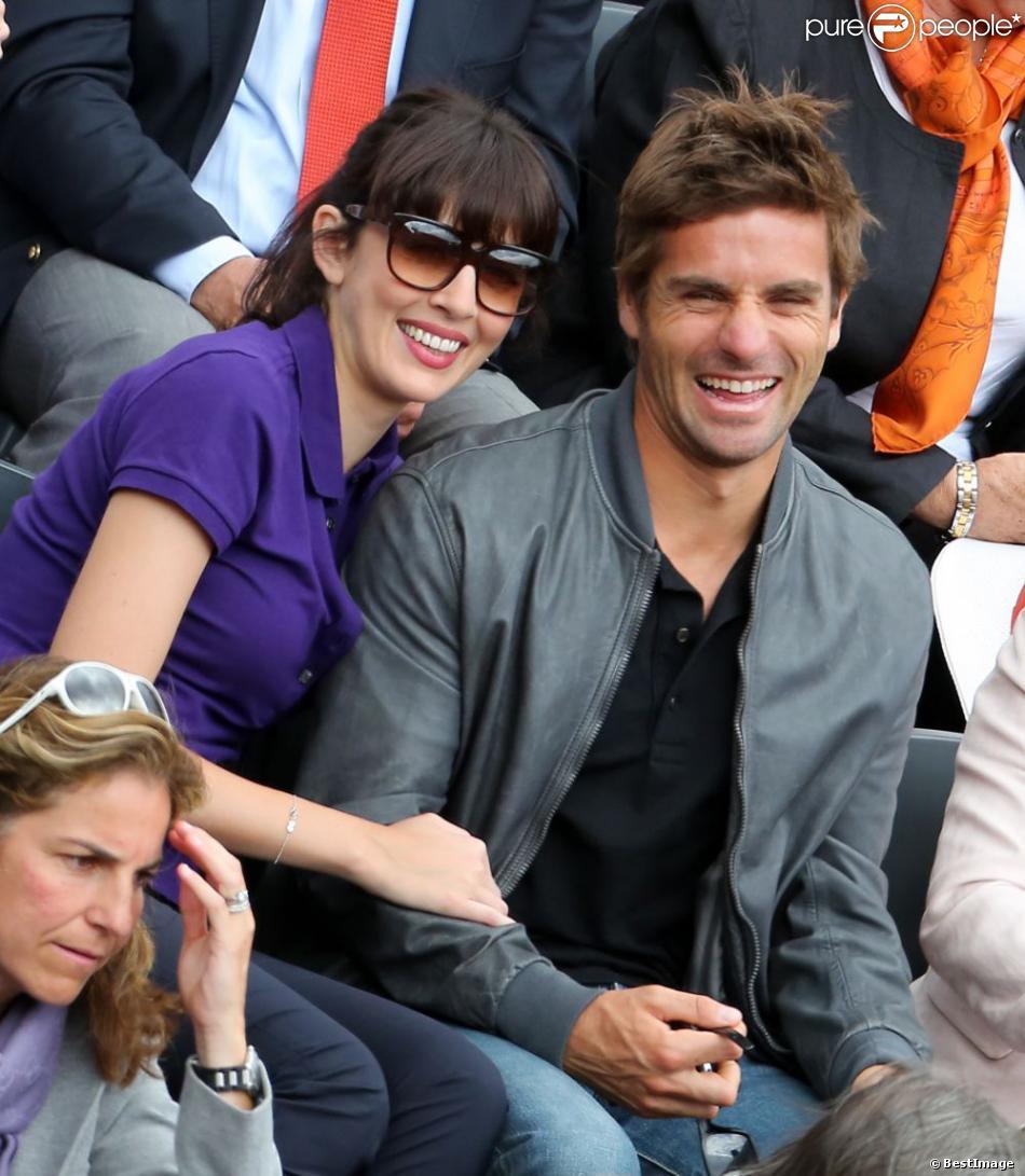 Nolwenn Leroy et Arnaud Clément à Roland Garros le 9 juin 2012 à Paris