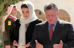 Rania et Abdullah de Jordanie : Recueillis pour les 14 ans de la mort d'Hussein