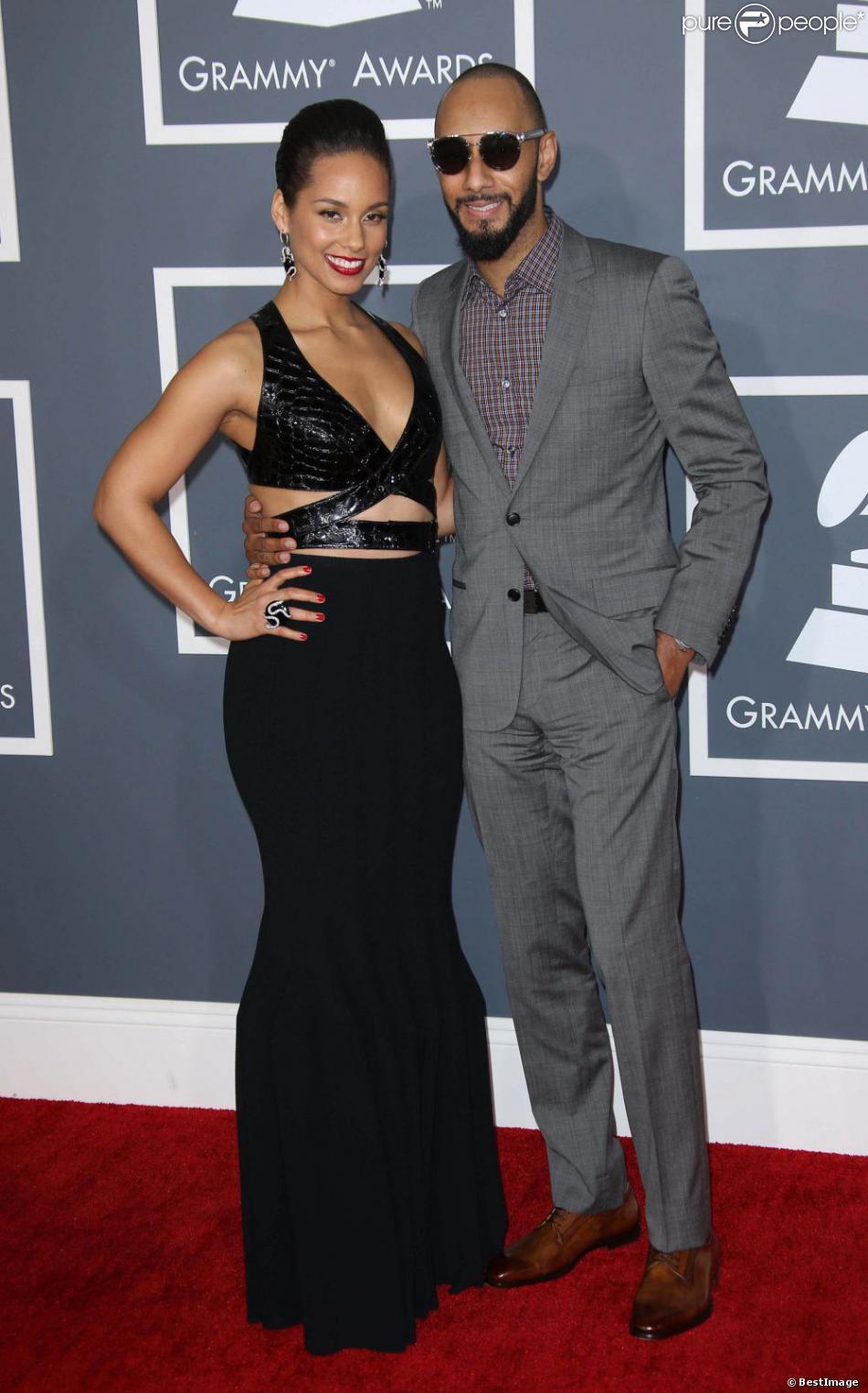 Alicia Keys et Swizz Beatz à la 55e cérémonie des Grammy Awards à Los Angeles, le 10 février 2013.