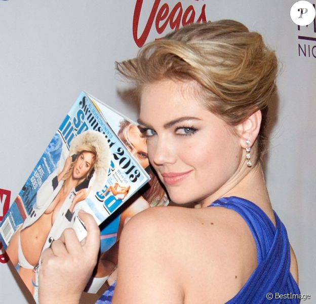 Kate Upton fête la parution du magazine Sports Illustrated Swimsuit 2013 au Marquee. Las Vegas, le 13 février 2013.