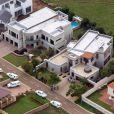 Une vue aérienne du lotissement et de la maison où Oscar Pistorius a tué sa compagne Reeva Steenkamp, le 14 février 2013 à Pretoria
