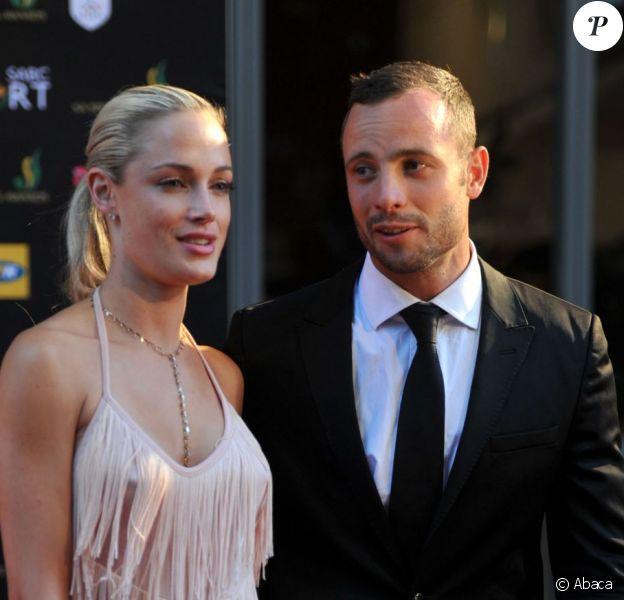 Oscar Pistorius et Reeva Steenkamp au Feather Awards le 4 novembre 2012 à Johannesburg