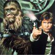 Harrison Ford (Han Solo) au côté de Chewbacca, prêts pour revenir dans Star Wars 7.