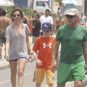 Harrison Ford et Calista Flockhart: Bain de soleil et de mer avec leur fils Liam