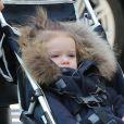 Romeo, Cruz et Harper Beckham se promènent dans Paris pour la première fois le 19 février 2013.