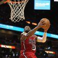 Dwyane Wade lors du match du Heat de Miami face aux Rockets de Houston à l'AmericanAirlines Arena de Miami le 6 février 2013