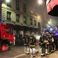 Un incendie, qui pourrait être criminel, a ravagé ce matin le restaurant de la boîte de nuit L'Arc, sans faire de victimes, à Paris le 21 fevrier 2013.