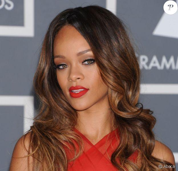 Rihanna lors des Grammy Awards à Los Angeles, le 10 février 2013.
