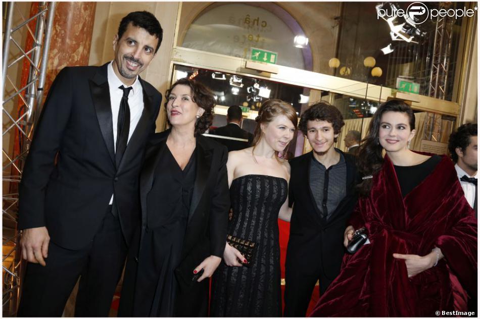 Samir Guesmi, Noémie Lvovsky, Julia Faure, India Hair lors de la 38e cérémonie des César le 22 février 2013 à Paris