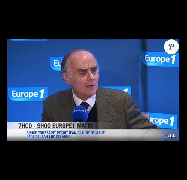 Jean-Claude Delarue, père de Jean-Luc Delarue, lors de son intervention sur Europe 1 le 19 septembre 2012
