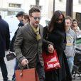 David Arquette et sa petite amie Christina McLarty font du shopping sur l'avenue Montaigne à Paris, le 2 mars 2013.