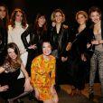 Victoria Olloqui, Mademoiselle Agnès, Élodie Frégé, Cécile Togni, Brisa Roche, Alysson Paradis, Vahina Giocante et Alice Aufray à la soirée K11 organisée au Pavillon Vendôme à Paris. Le 5 mars 2013.