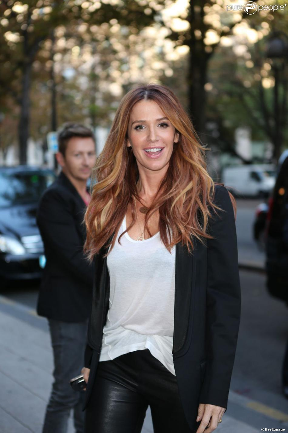Poppy Montgomery à Paris, le 24 septembre 2012.
