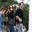 Poppy Montgomery et son boyfriend Shawn Sanford à Paris le 23 septembre 2012.