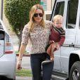 Hilary Duff, amincie, emmène son fils Luca à l'école à Sherman Oaks, le 6 mars 2013.