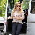 La jolie blonde Hilary Duff emmène son fils Luca à l'école à Sherman Oaks, le 6 mars 2013.