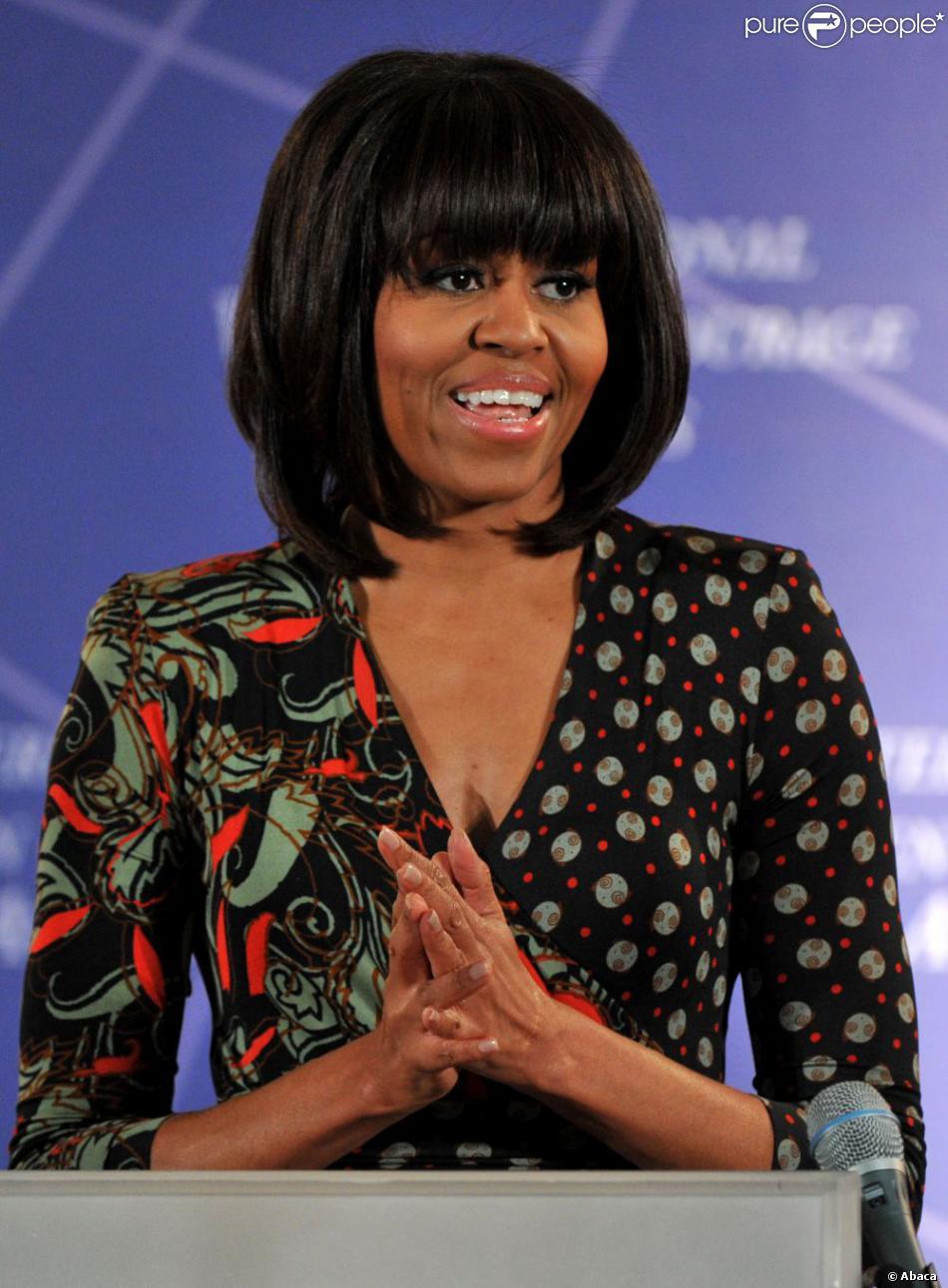 Michelle Obamalors de la remise du prix Femme de courage à Washington le 8 mars 2013.
